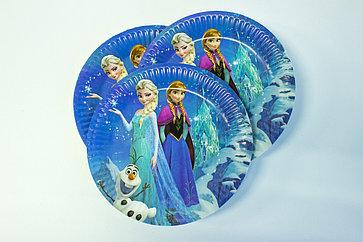 "Одноразовые тарелки d=18 ""Холодное сердце"""