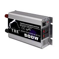 Преобразователь напряжения (инвертор) TBE, 12В/>220В, 500Вт.