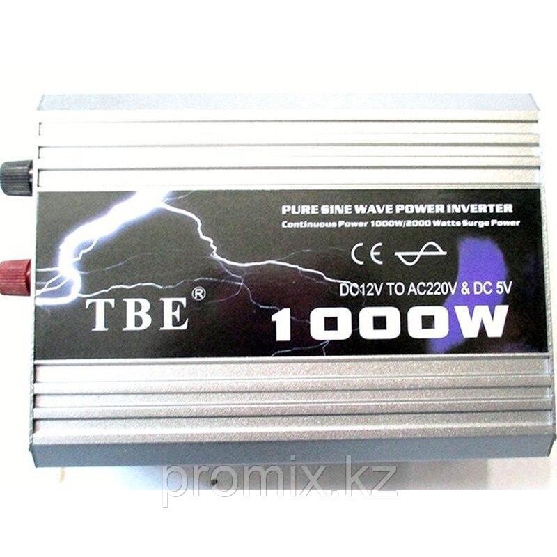 Преобразователь напряжения (инвертор) TBE, 12В/>220В, 1000Вт.
