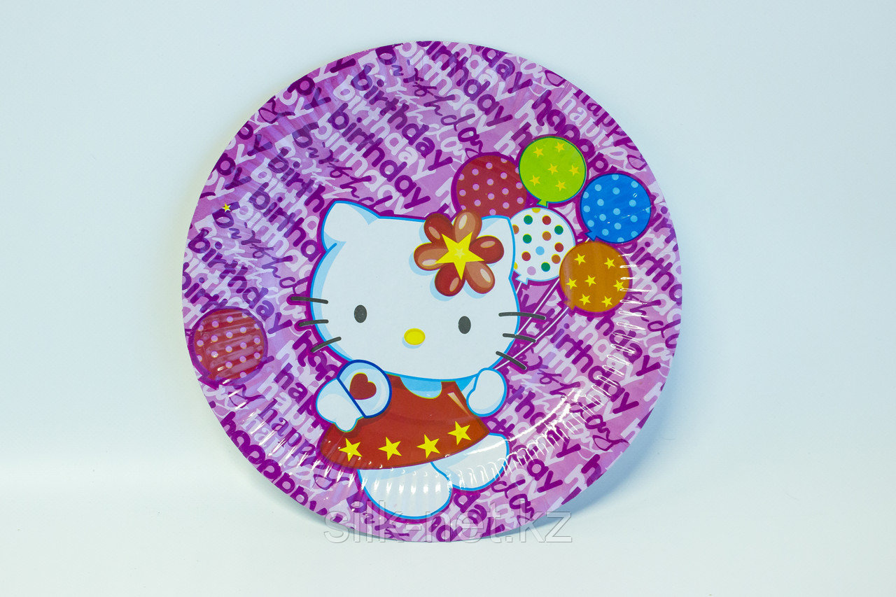 "Одноразовые тарелки d=24 ""Hello Kitty"""