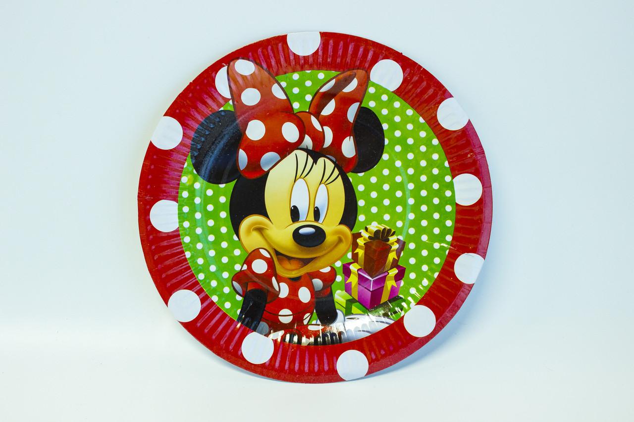"Одноразовые тарелки d=24 ""Микки Маус"""