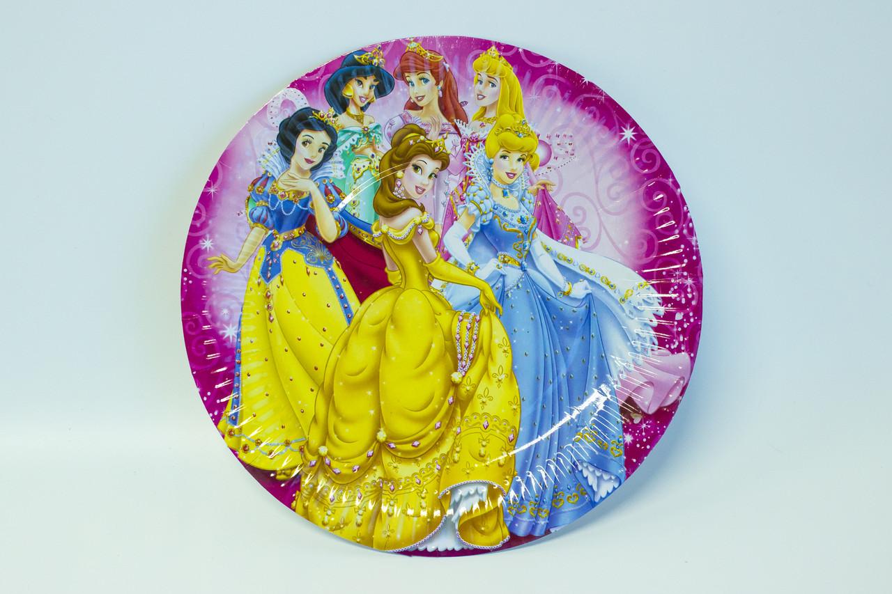"""Одноразовые тарелки d=24 """"Принцессы"""""""