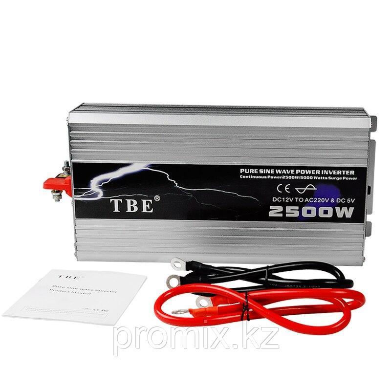Преобразователь напряжения (инвертор) TBE, 12В/>220В, 2500Вт.