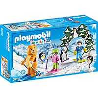 Конструктор Playmobil Зимние виды спорта: Урок катания на лыжах