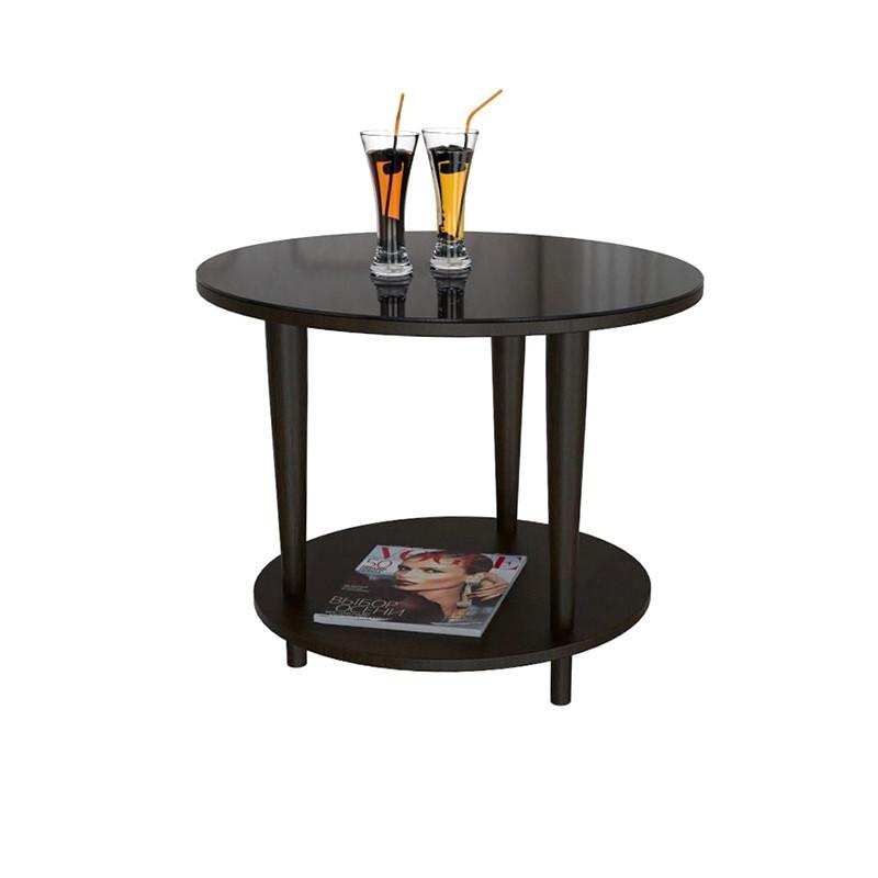 Стол журнальный BeautyStyle 10 Венге/стекло черное