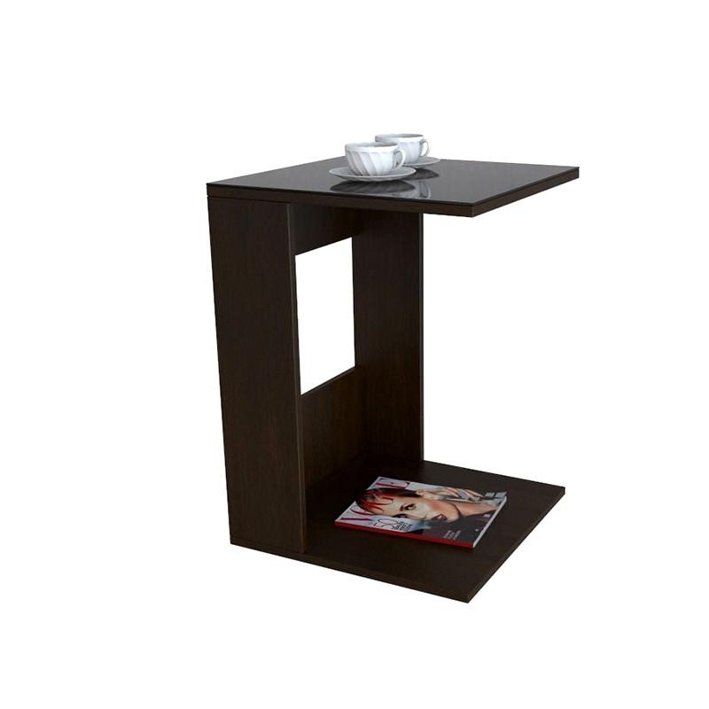 Стол журнальный BeautyStyle 3 Венге/стекло черное