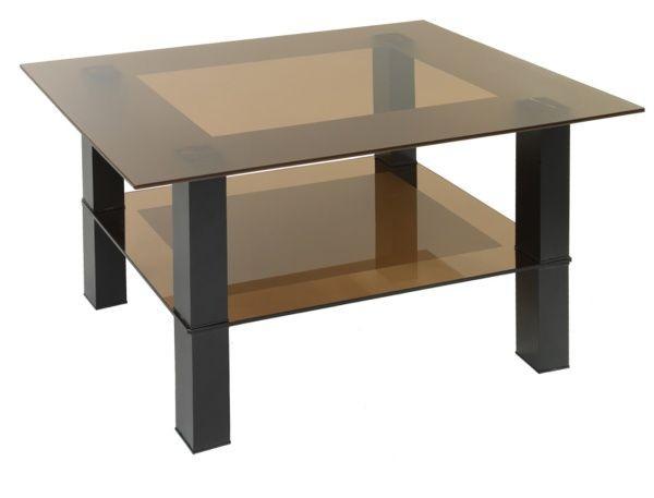 Стол журнальный Кристалл 2 Черный/тонированное
