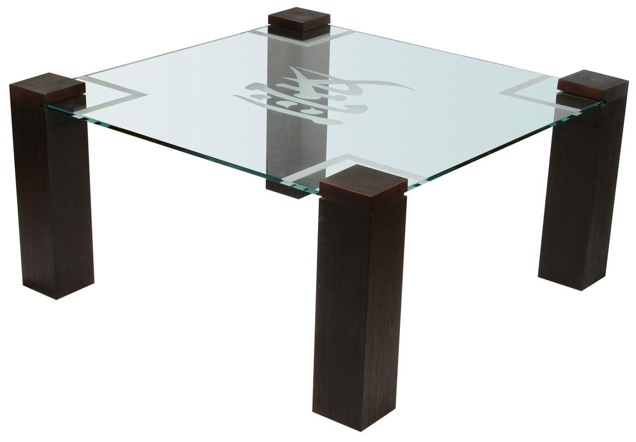 Стол журнальный Приз 1Н Венге прозрачное без иероглиф