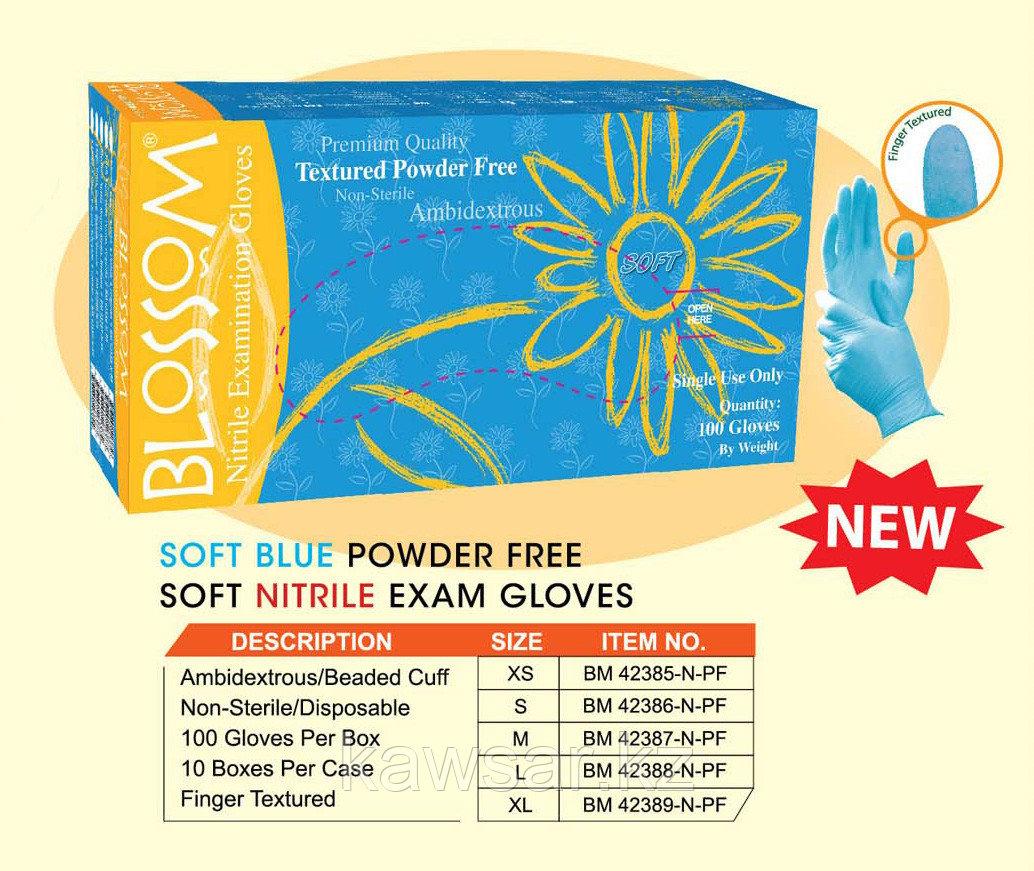 Перчатки BLOSSOM медицинские нитриловые 50пар/упаковок. - фото 2