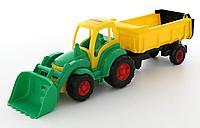 Чемпион трактор с ковшом и полуприцепом 0438