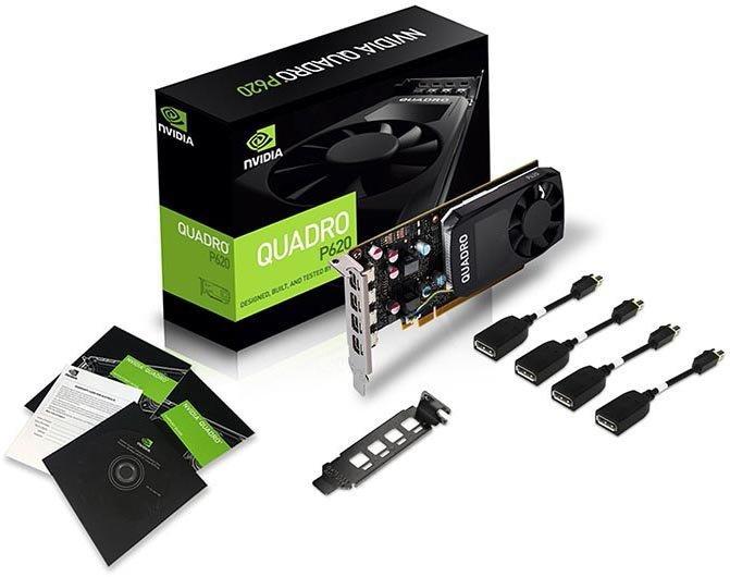Профессиональный графический ускоритель ASUS Quadro P620 2GB GDDR5,128-bit, 512 CUDA ядер, производительность