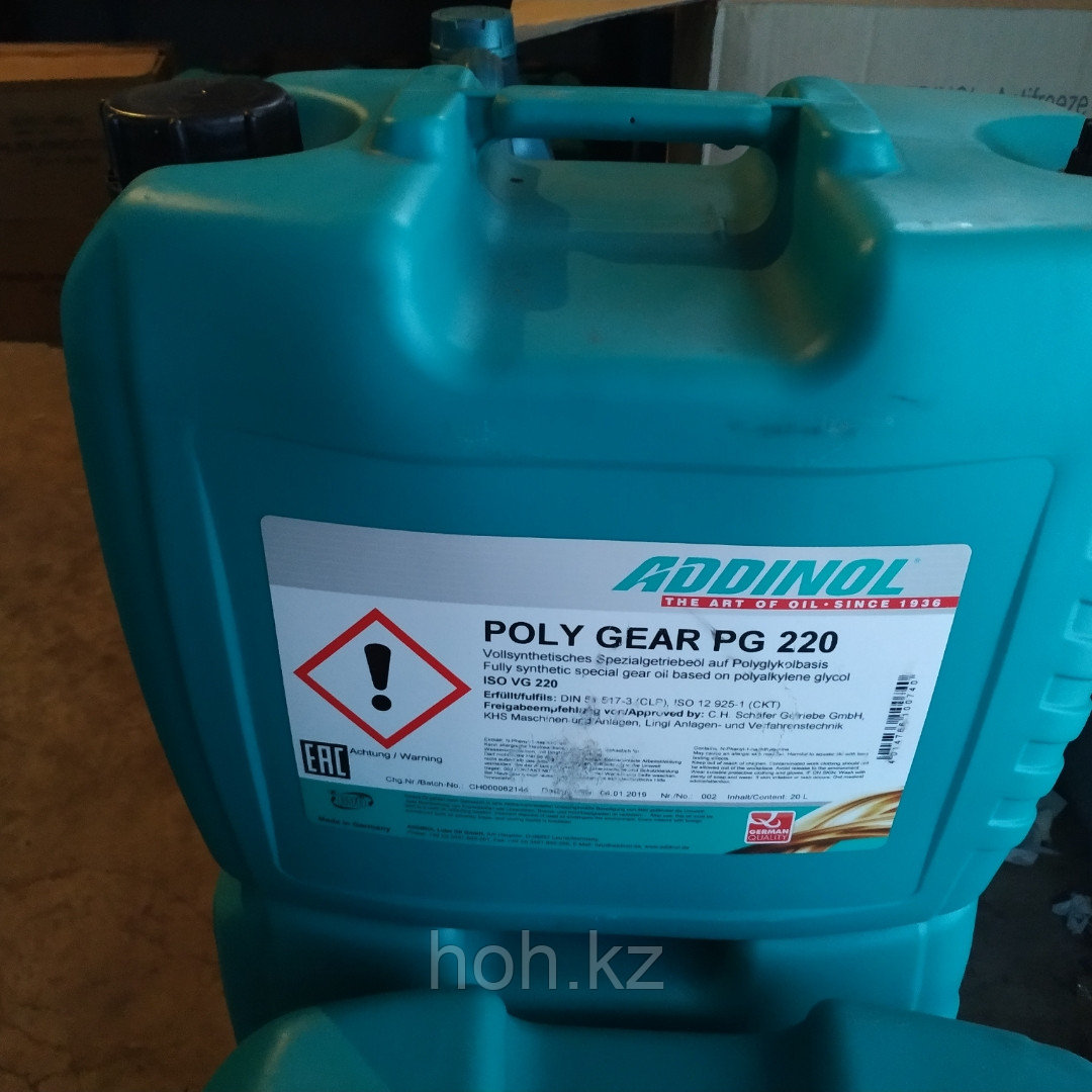 Редукторное масло ADDINOL POLY GEAR 220 PG