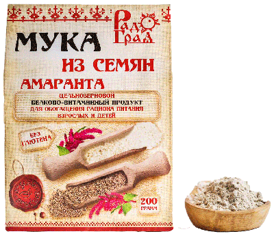 Мука амарантовая цельнозерновая, 200 г