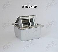 FEILIFU HTD-ZN-2P Напольный лючок на 3 модуля, металл, цвет бронза