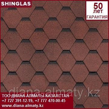 Битумная черепица (Shinglas) Шинглас Ультра СБС модифицированная Самба Рубин