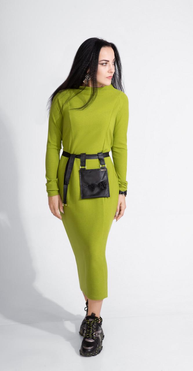 Платье ElPaiz-453, салат, 42