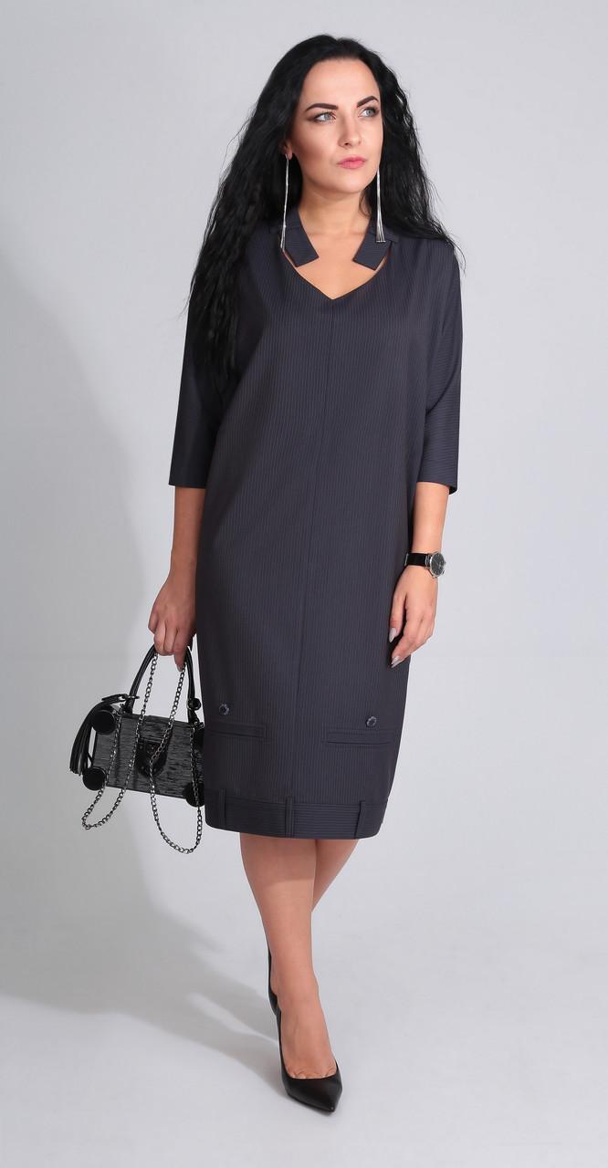 Платье ElPaiz-455, темный в полоску, 52