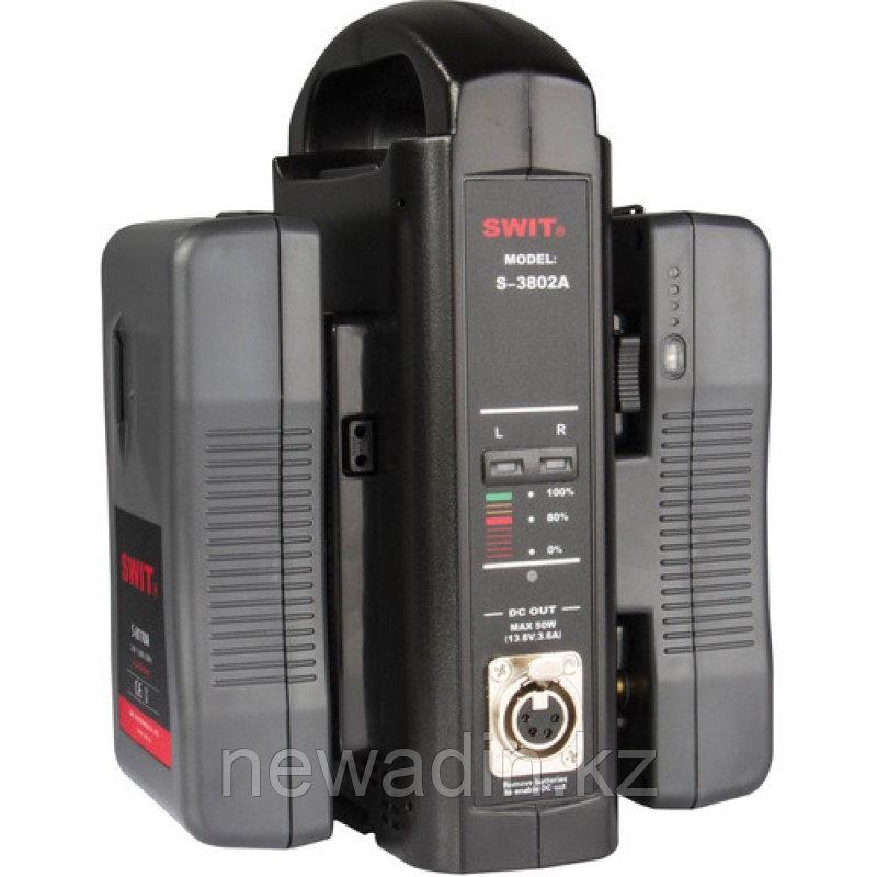 SWIT SC-3802A Двухканальное портативное зарядное устройство для акб Anton Bauer с функцией питания
