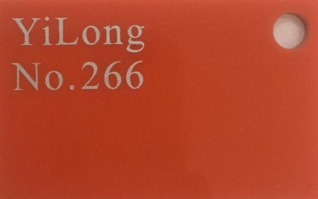 Акрил B Оранжевый 266 3мм (1,25 м*2,48 м)