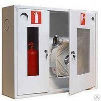 ШПК-02 НОБ шкаф для пожарного крана со стеклом, белый