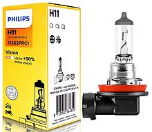 Галогеновая лампа Philips H11 Vision (+30%) 12362PRC1 1шт.