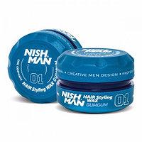 Nishman GumGum «жевательная резинка Бабл-гам» 01 (Воск для укладки волос) 150 мл.