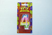 """Свечи для торта цифра 4 """"Party"""""""