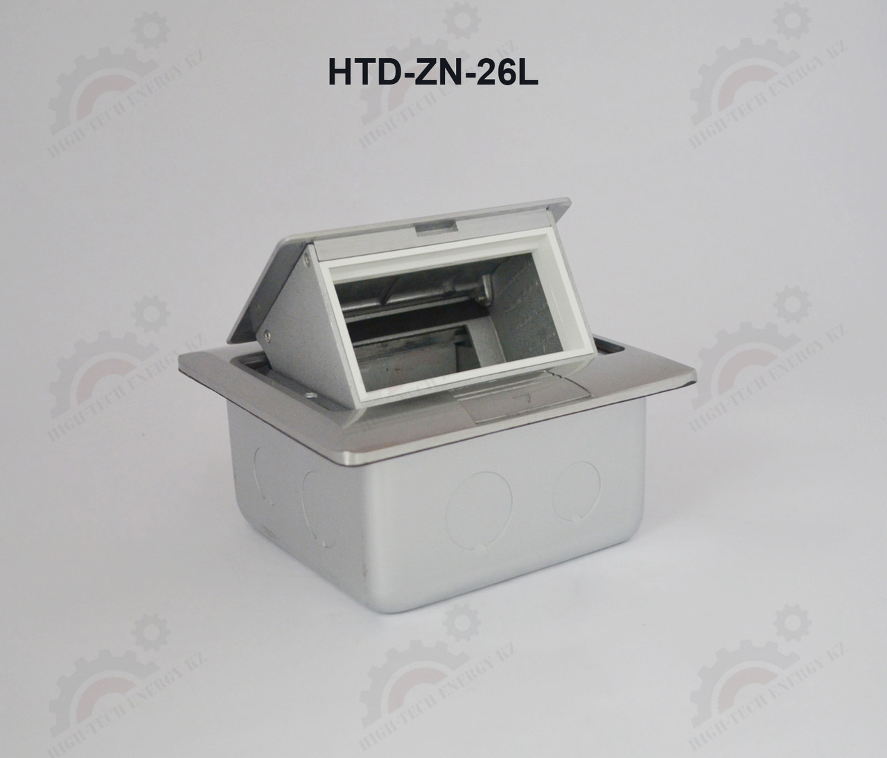 FEILIFU HTD-ZN-26L Напольный лючок на 4 модуля, металл, цвет серебро