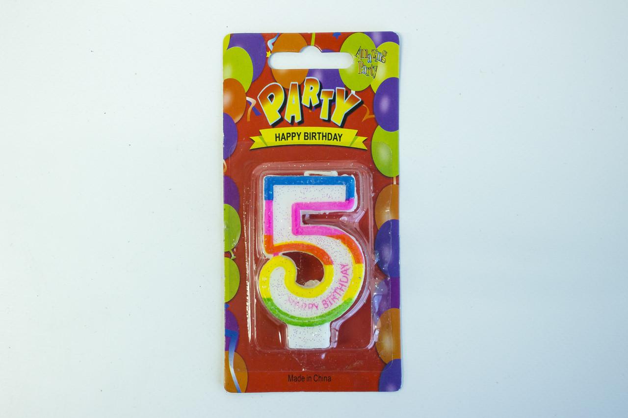 """Свечи для торта цифра 5 """"Party"""""""