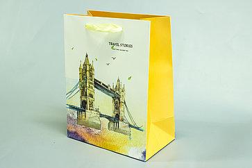 Бумажные пакеты с ручкой 32см*26 см*12см