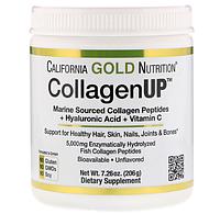 California Gold Nutrition, CollagenUP, морской коллаген + гиалуроновая кислота + витамин C, без добавок, 206 г