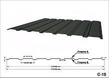 Профнастил оцинкованный С15 0,60мм