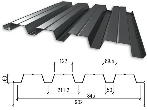 Профнастил оцинкованный Н60 0,55мм