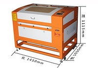Трехрельсовый лазерный станок 6090-H (высокотехнологический лазер) 100W