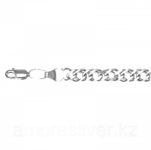 Цепь Титан серебро с родием, без вставок, ромб двойной ЦР2100СА6гР-С888