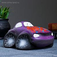 "Копилка ""Машина"" фиолетовая 9х15см"
