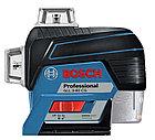 Лазерный профессиональный нивелир Bosch GLL 3-80CG с зелёными лучами, фото 3