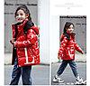 Пуховик зимний Valentino & Moncler от 2 до 7 лет для девочек, красный.