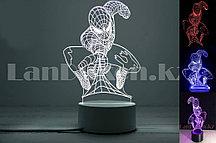 Светодиодный 3D ночник Человек паук LED  3 цветных режима 17*13 см