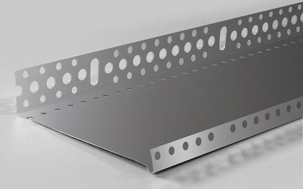 ПРОФИЛЬ цокольный (алюминий)  с перфорацией и капельником 53 мм (0,5мм)