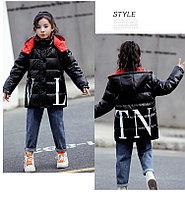 Пуховик зимний Valentino & Moncler от 2 до 7 лет для девочек, черный, фото 1