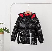 Пуховик зимний Valentino & Moncler от 2 до 7 лет для мальчиков, черный.