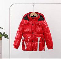 Пуховик демисезонный Valentino & Moncler от 2 до 7 лет для мальчиков, красный., фото 1