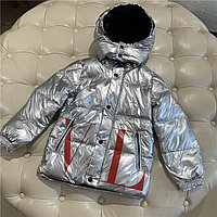 Пуховик зимний Valentino & Moncler от 2 до 7 лет для мальчиков, серебристый., фото 1