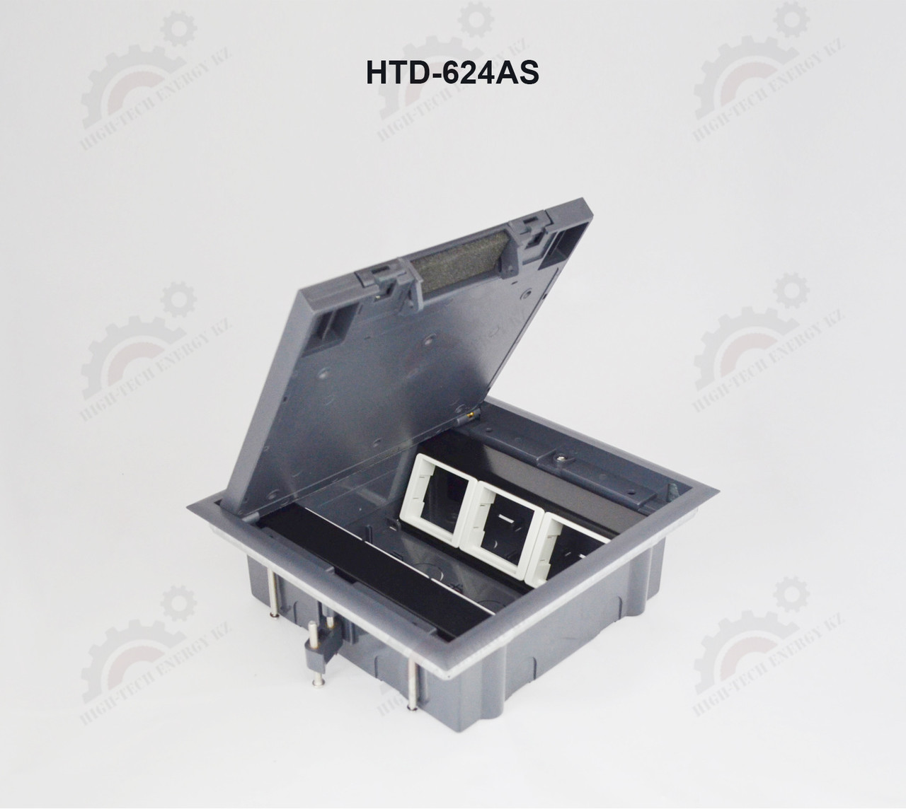 FEILIFU HTD-624AS Напольный лючок на 6 модулей, пластик, цвет серый