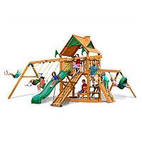 """Детский игровой комплекс """"Кораблик"""", качели на цепях, корка двойная, качели-трапеция, стол со скамейкой"""