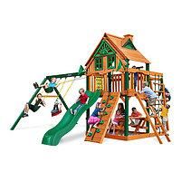 Детская площадка «Заря Трихауз с рукоходом», качели, лестницы, домик с крышей,