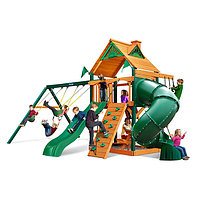 Детская площадка «Альпы», скалодром, горка труба, открытая горка, качели, домик с крышей, фото 1