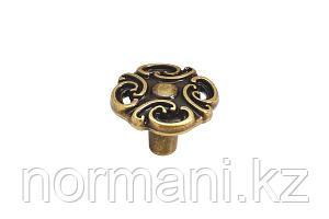"""Мебельная ручка кнопка, цвет бронза античная """"Флоренция"""""""