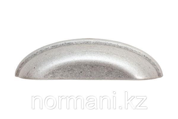 Ручка ракушка 96 старое серебро с блеском